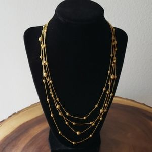 Multi tiered necklace
